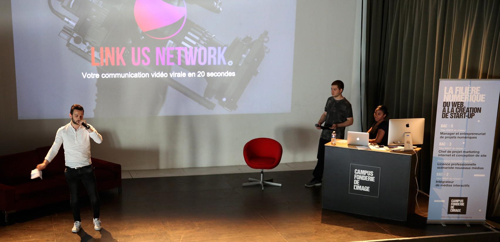 LINK-US-NETWORK - Campus Fonderie de l'Image - Projet étudiant 2017
