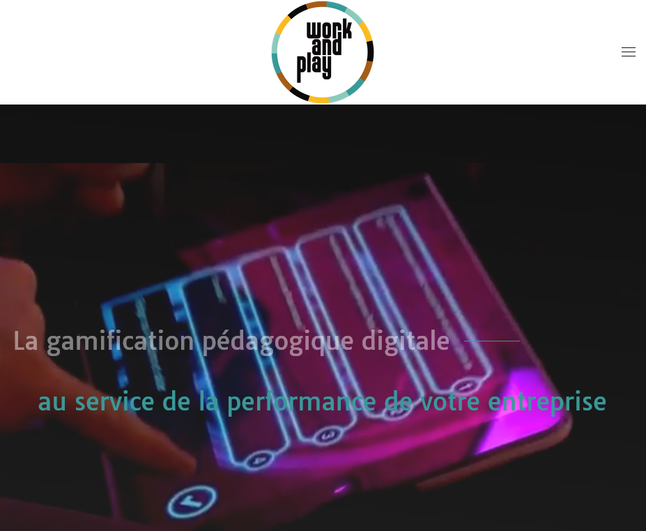 Work and Play Gamification pédagogique