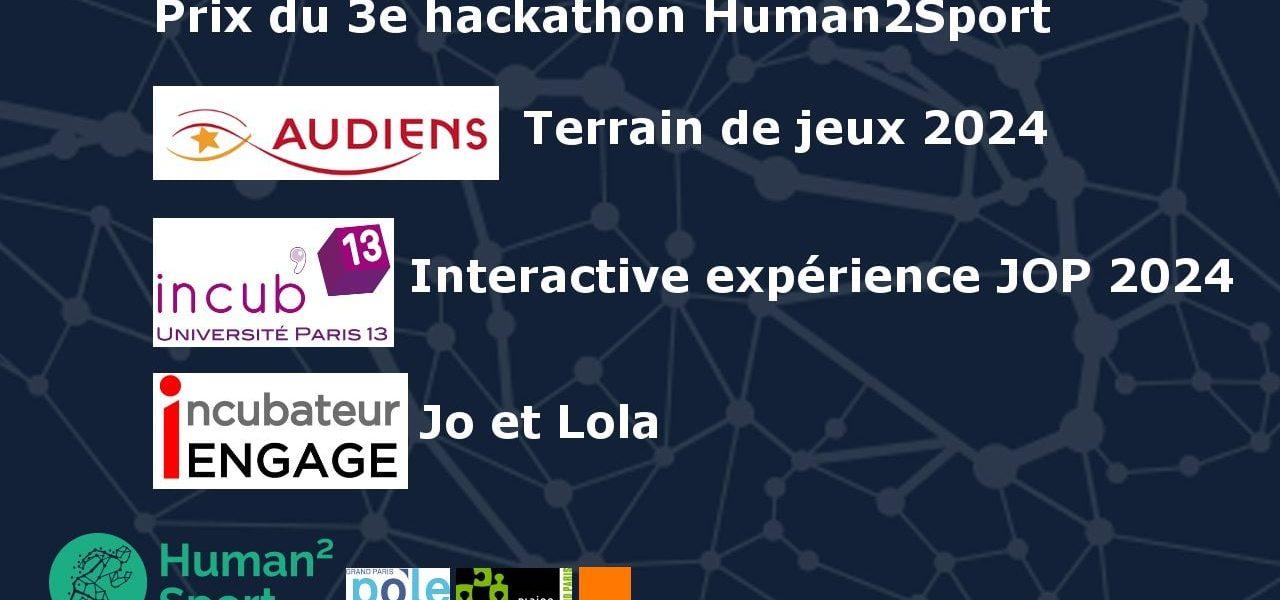 Hackathon Human2Sport: 3étudiants du Mastère Management entrepreneurial de projets numériques récompensés!